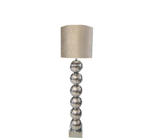 Eric Kuster Style Zilvere 6 Bollamp Met Zilvere Croco Kap