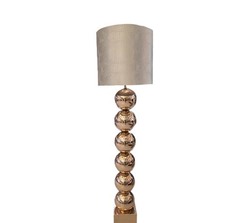 Eric Kuster Style Goude 6 Bollamp Met Zilvere Croco Kap