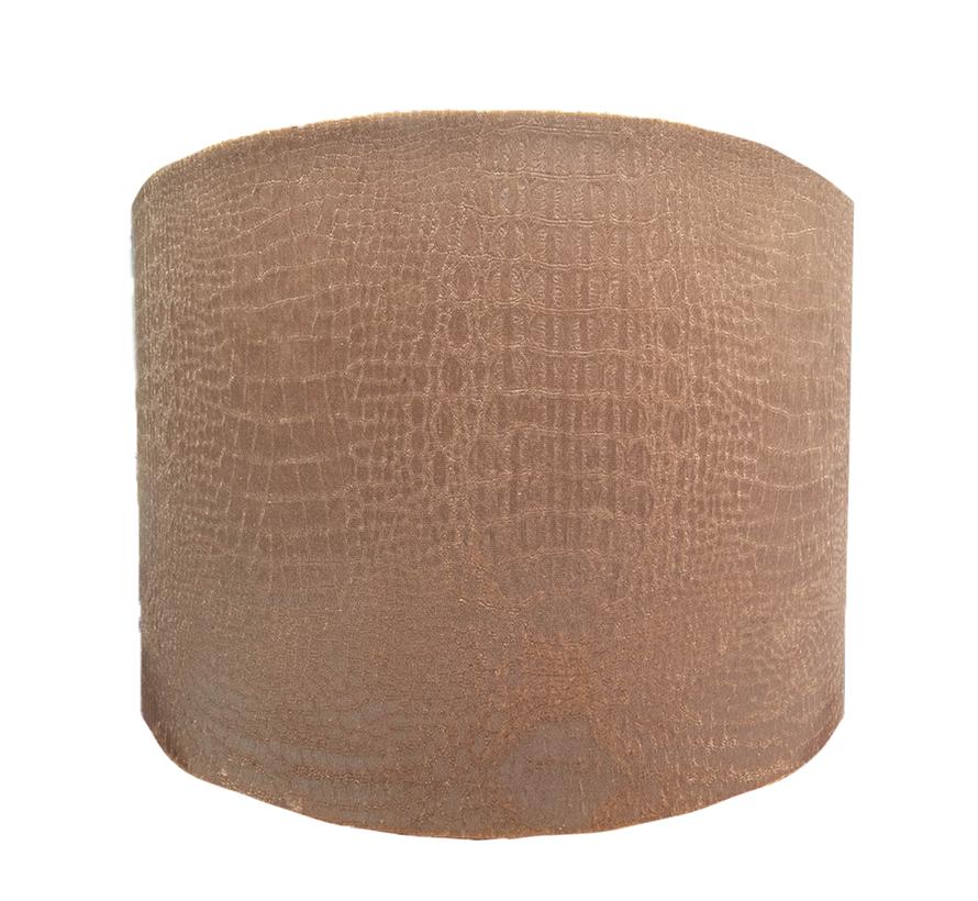 Medium Bruine Croco Lampen Kap