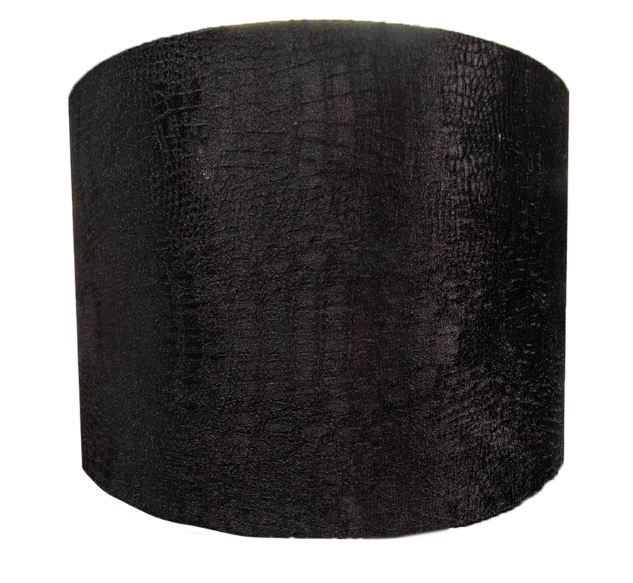 Medium Zwarte Croco Lampen Kap
