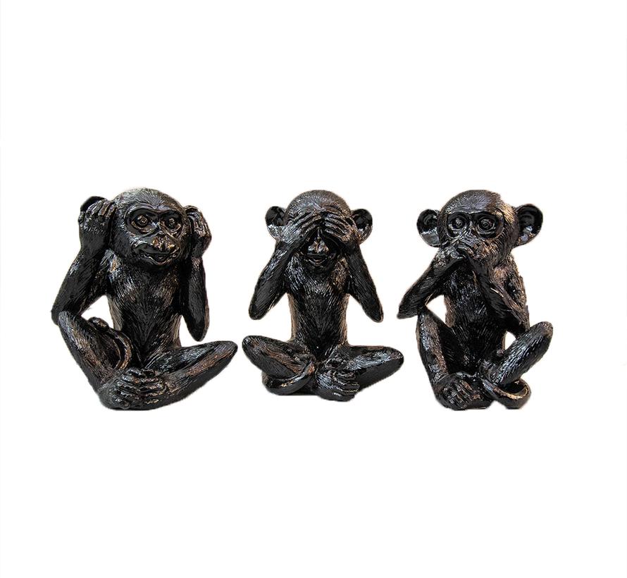 aapjes - zwart