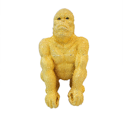 Eric Kuster Style Gorilla groot - goud