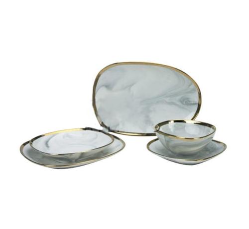 Grey Marble Serviesset