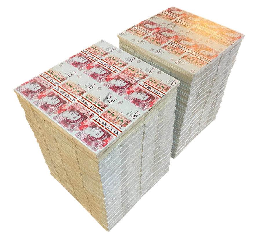 Bijzettafel Pound Stacks L28 x B24 x H37 cm
