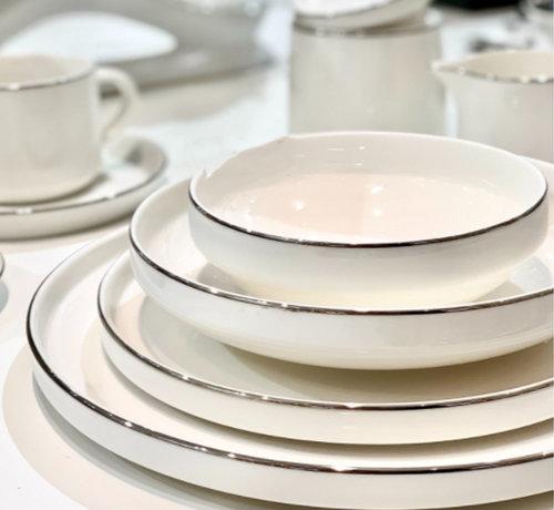 Bricard porcelain Lunel 6-Persoons   27-Delig Serviesset Zilver