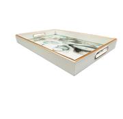 L&M Dienblad Rechthoek - Wit Met Zwart