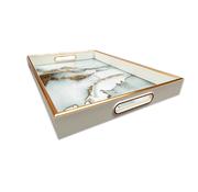 L&M Dienblad Rechthoek - Marbel Wit