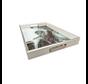 Dienblad Rechthoek - Wit met Zwart Marbel