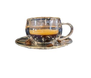 Bricard Dubbelwandige Glazen Koffieset - 4 delig