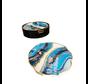 Onderzetters Zwart Blauw Marbel  - 6 Stuks