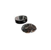 L&M Onderzetters Zwart Marbel - 6 Stuks