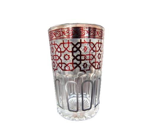 Theeglazen Marrakech - 12 stuks - Rood