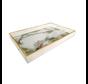 Dienblad Rechthoek - Wit Marbel Met Goud