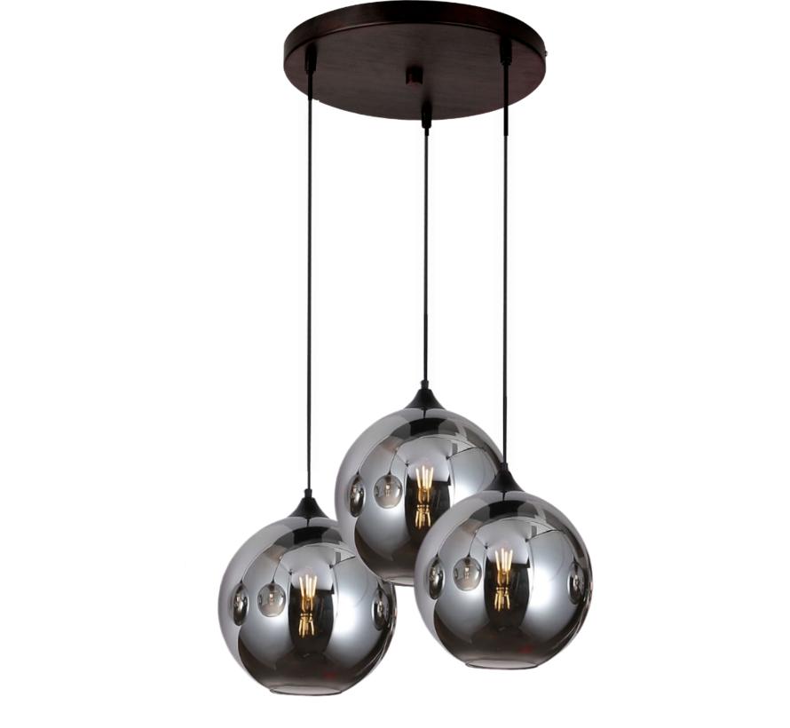 Hanglamp Illusion Smoking glass 3 lichts - ⌀20