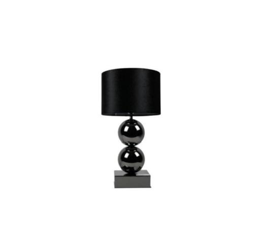 Erik Kuster Style Bollamp - Antraciet - Tafellamp - 2 Brede Bollen - Vierkante Voet