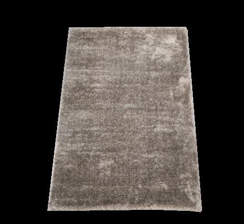 Flora Vloerkleed Long Shaggy - Grijs ( 80 x 150 cm )