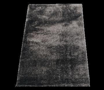 Flora Vloerkleed Long Shaggy - Black ( 80 x 150 cm )