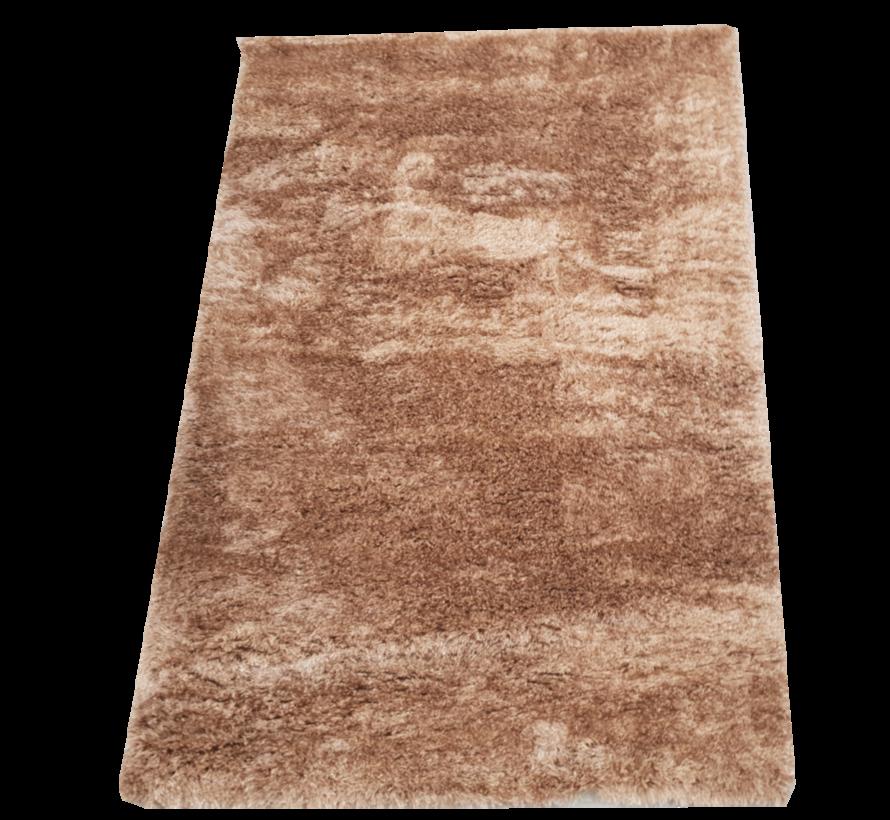 Vloerkleed Long Shaggy - Bruin ( 120 x 170 cm )