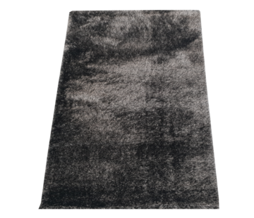 Flora Vloerkleed Long Shaggy - Black ( 160 x 230 cm )