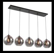 Eric Kuster Style Hanglamp Smoky - 5 lichts ( Smoking Glass )