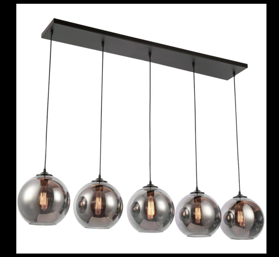 Hanglamp Smoky - 5 lichts ( Smoking Glass )
