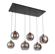 Eric Kuster Style Hanglamp Smoky - 6 lichts ( Smoking Glass )