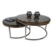 Rixos Salontafel Sleeper Wood set van 2 rond - Hout