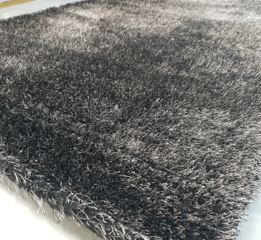 Vloerkleed Long Shaggy - Black ( 200 x 290 cm )