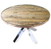 Rixos Eettafel Rond 120cm - Sleeper Wood - Rond