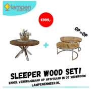 Rixos Woonkamer set - Sleeper Wood
