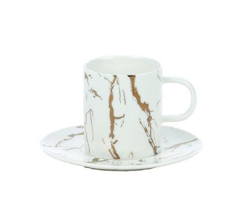 Bricard porcelain Bricard Espresso set Wit 12-Delig