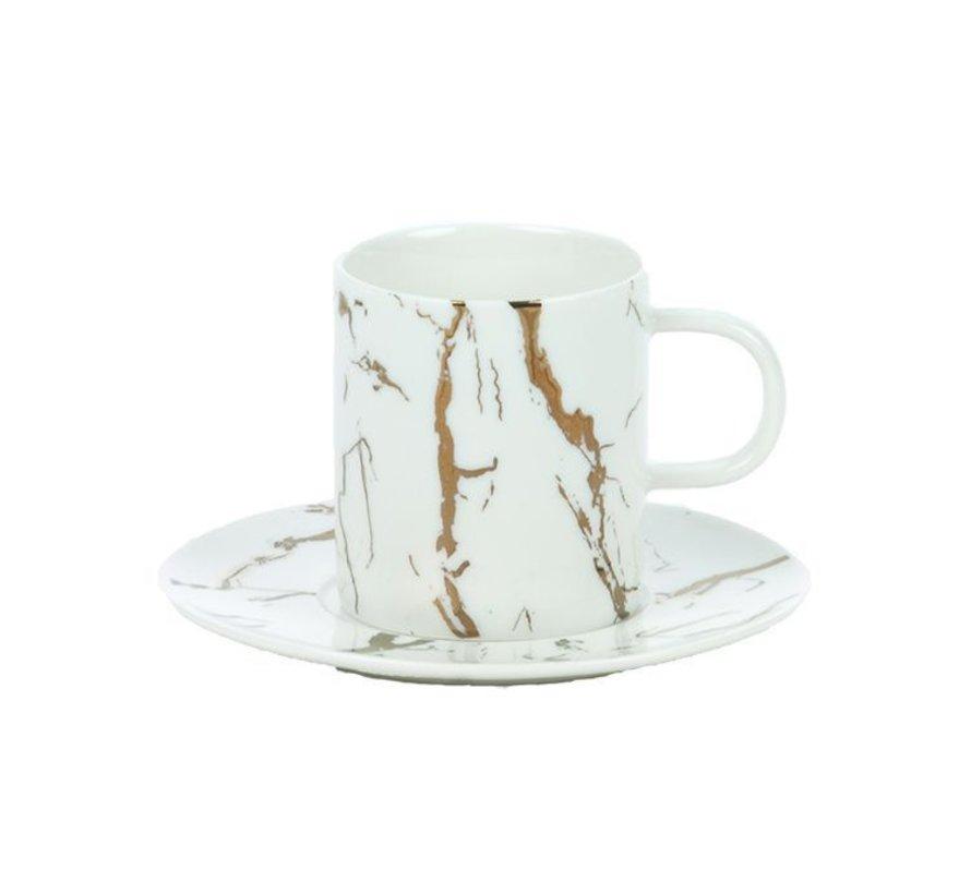 Bricard Espresso set Wit 12-Delig