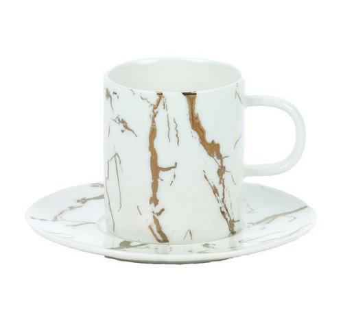 Bricard porcelain Bricard Koffie set Wit 12-Delig