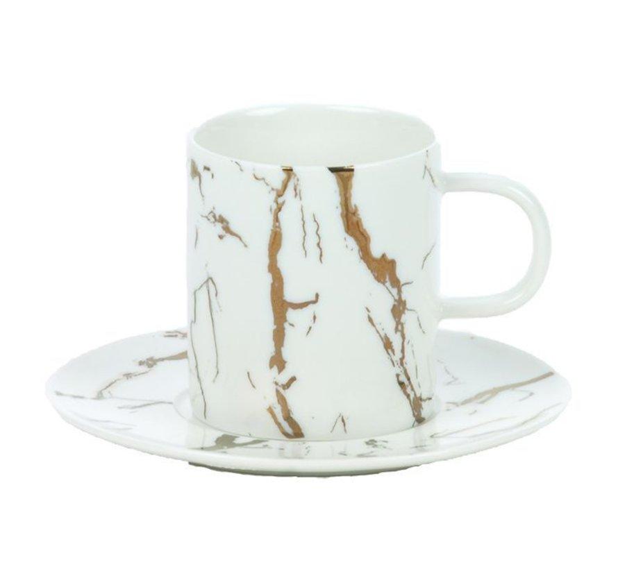 Bricard Koffie set Wit 12-Delig