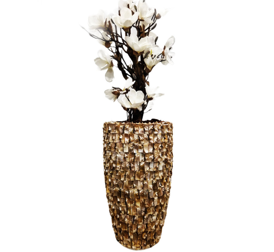 Schelpenvaas - Nina - Magnolia Bloemen