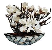 Eric Kuster Style Schelpenvaas - Pearl - Lange Model - Magnolia Bloemen