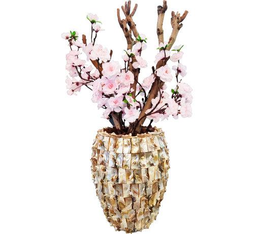 Eric Kuster Style Schelpenvaas - Diamond - Cherry Bloesem