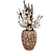 Eric Kuster Style Schelpenvaas - Diamond - Cherry Bloesem White
