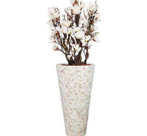 Eric Kuster Style Schelpenvaas - Emily - Witte Magnolia Bloemen