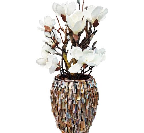 Eric Kuster Style Schelpenvaas - Diamond - Magnolia Bloemen