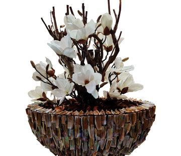 Eric Kuster Style Schelpenvaas - Aurora- Magnolia Bloemen