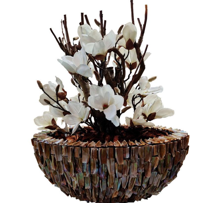 Schelpenvaas - Aurora- Magnolia Bloemen