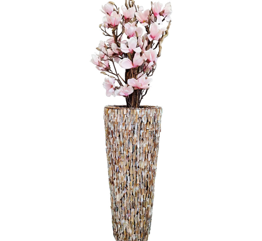 Schelpenvaas - Nova - Magnolia Rosa