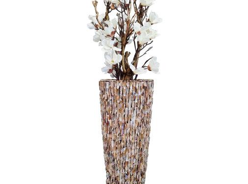Eric Kuster Style Schelpenvaas - Nova - Magnolia Blanca