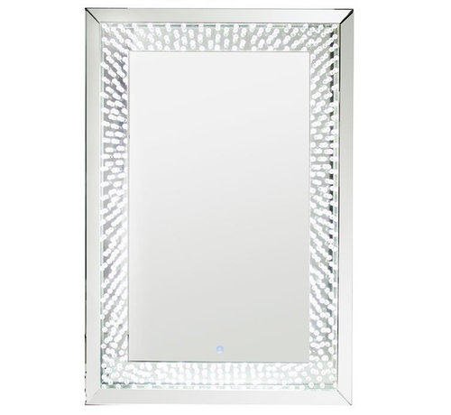 Eric Kuster Style Spiegel - Iris - Silver - Incl. LED Verlichting