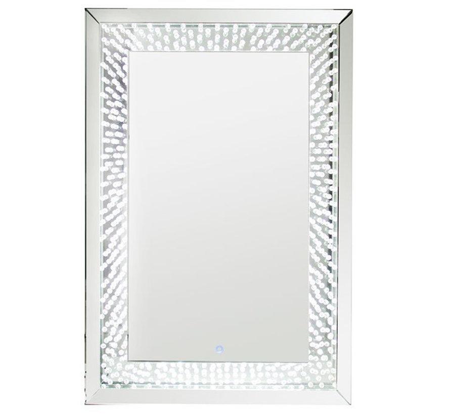Spiegel - Iris - Silver - Incl. LED Verlichting