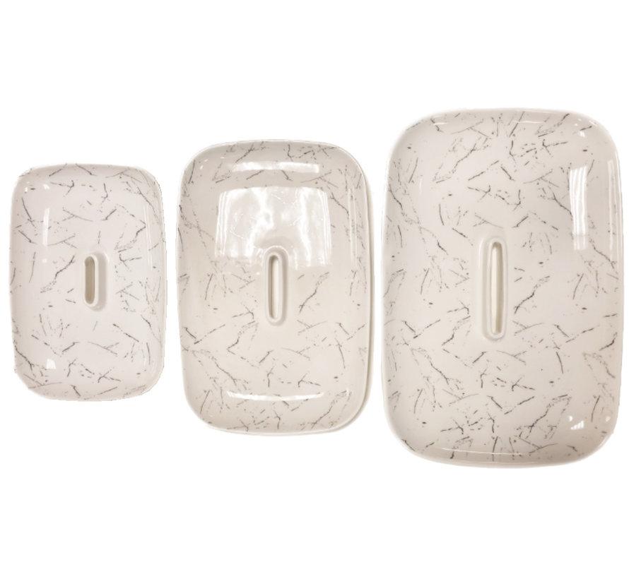High Tea - 3-laags - White Pearl - Wit en Zilver