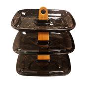 Hayal High Tea - 3-laags - Black Pearl - Zwart en Goud