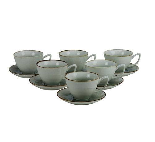 Bricard Koffieset - Nice - Blauw 12-delig