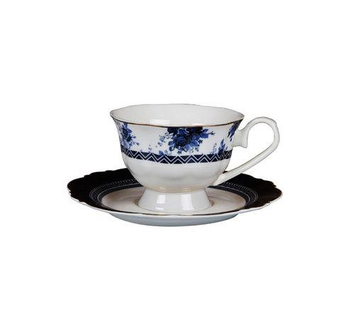 Bricard Bron espressoset - Paris - Blauw 12-delig